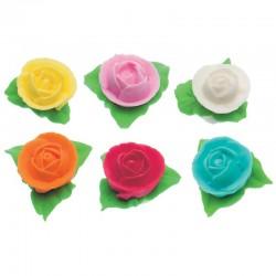 Rosa in cialda d'ostia rosse 5 pz