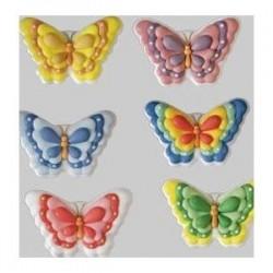 Farfalle di zucchero 6 pz miste