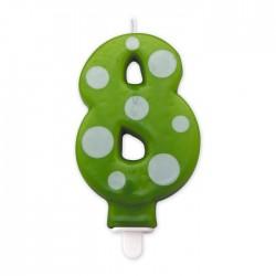 Candeline a pois verde