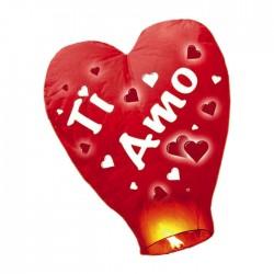 """Lanterna a forma di cuore con scritta """"Ti amo"""""""
