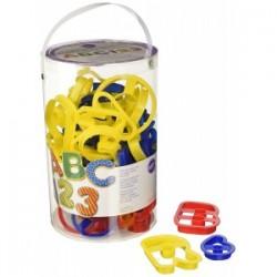 Set 50 Tagliapasta Alfanumerico  Plastica