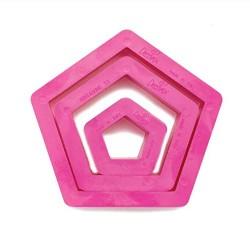 Set 3 tagliapasta pentagono