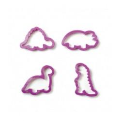 Kit 4 tagliapasta dinosauri in plastica