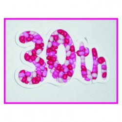 """Porta confetti """" 30th """""""