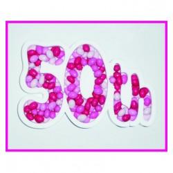 """Porta confetti """" 50 th """""""
