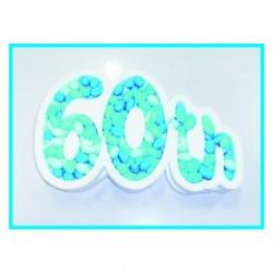 """Porta confetti """" 60th """""""