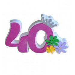 Numero 40 rosa polistirolo