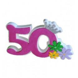 Numero 50 rosa polistirolo
