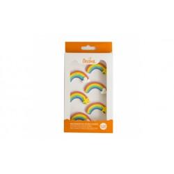 Arcobaleno in zucchero 6 pz Decora