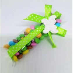 Scatolina pvc rettangolare confetti colorati