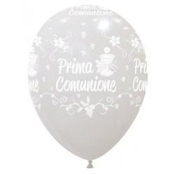 """Palloni ad elio 12"""" COMUNIONE BIANCA"""