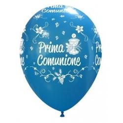 """Palloni ad elio 12"""" COMUNIONE BLU"""