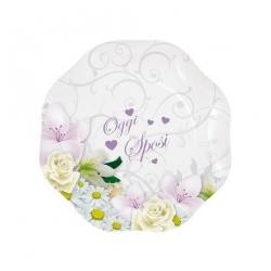 Piatto 18 cm Oggi Sposi Bouquet