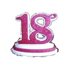 Alzatina 1° Compleanno Rosa