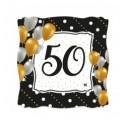 Piatti 19 cm Buon 50 compleanno Prestige