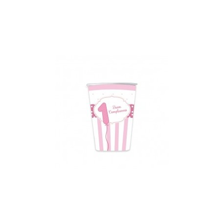 Bicchieri 1°Compleanno rosa