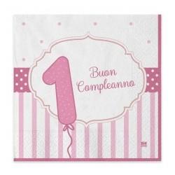 Tovaglioli 1°Compleanno rosa