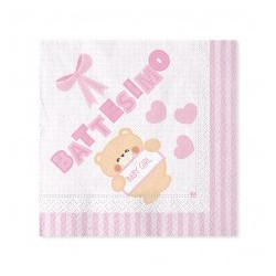 Piattini Baby shower Celeste
