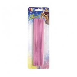 Candeline fili luminosi rosa