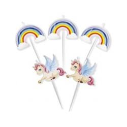 Candela sagomata Unicorno