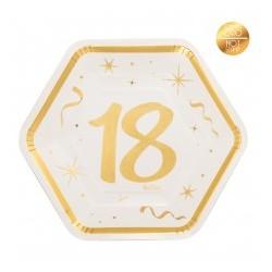 PIATTI 23 CM 18 ANNI GOLD