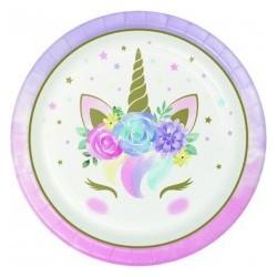 Piatto Unicorno 23 cm