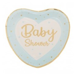 Piattini Baby shower Celeste