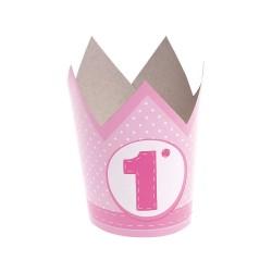 Corona 1° Compleanno Rosa