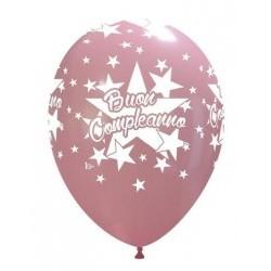 """Palloni ad elio 12"""" Buon Compleanno Rosa"""
