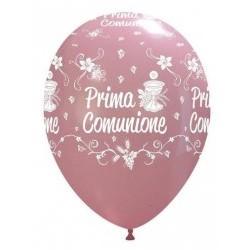 """Palloni ad elio 12"""" COMUNIONE ROSA"""