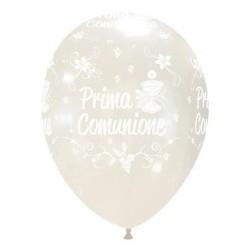 """Palloni ad elio 12"""" COMUNIONE TRASPARENTE"""